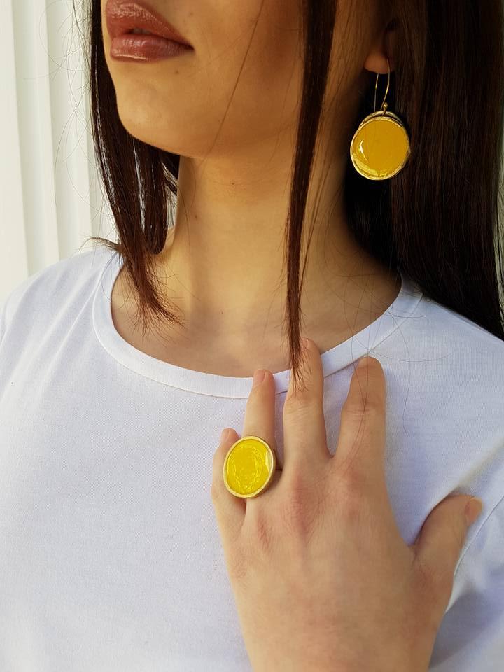 Δαχτυλίδι σμάλτο κίτρινο!!! – BBcreations 14047fe5155